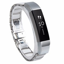 Smart watch band for Fitbit Alta Silver Stainless Steel Ceramics Link Replacement Bands for Fitbit Alta Ceramics Link Metal Band