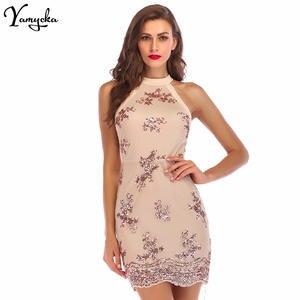 c6e7567e36664 Yamycka elegant summer women Sexy Black office party dress