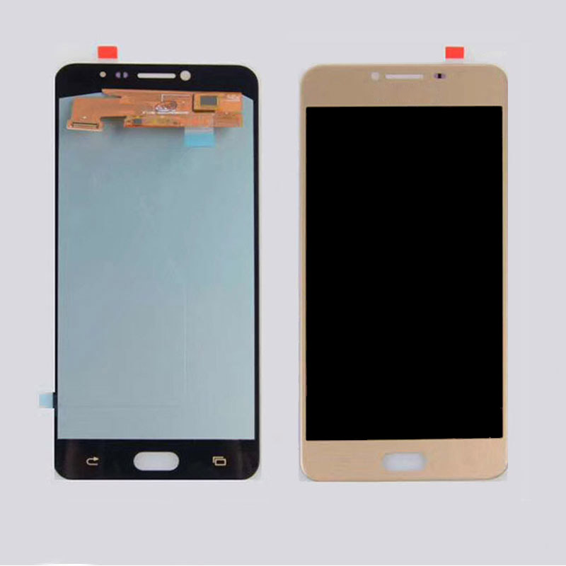 Super Amoled Für Samsung Galaxy C7 C7000 LCD Display Touchscreen Digitizer Montage C7000 Glas lcd Ersatz teile