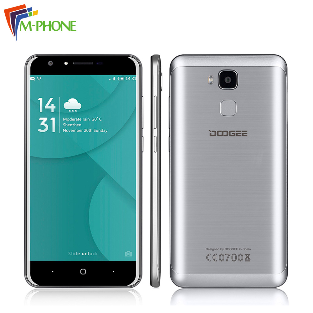 Original DOOGEE Y6C 5 5 inch 4G Mobile Phone Android 6 0 MTK6737 1 3GHz Quad