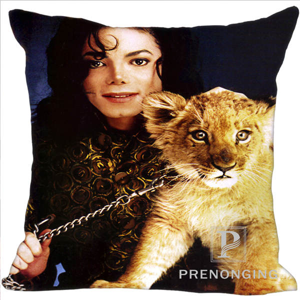 Custom Decorative Pillowcase Michael Jackson@01 Square Zippered Pillow Cover Best Gift 20X20cm,35X35cm(One Side)180117#111