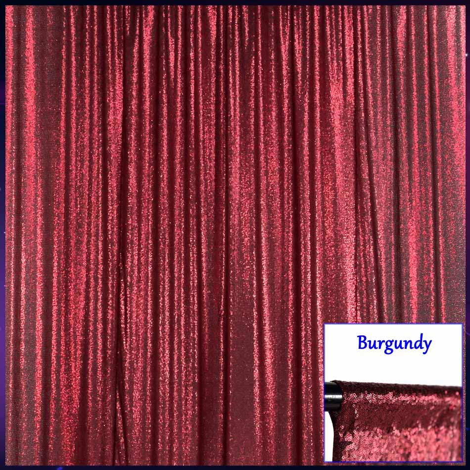 Argent brillant sequin 4FTX6FT photo booth toile de fond rideaux parti panneaux