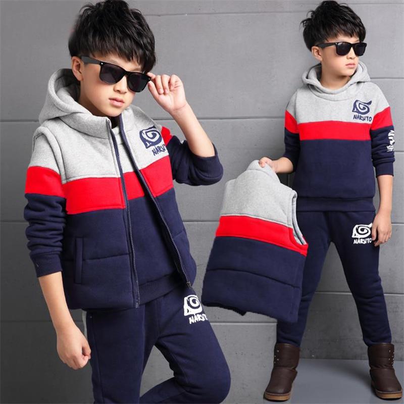 bc32ad6bd53084 Kinderkleidung jungen winter drei plus samt dicken 2018 neue kinder  pullover in winter kinder anzug