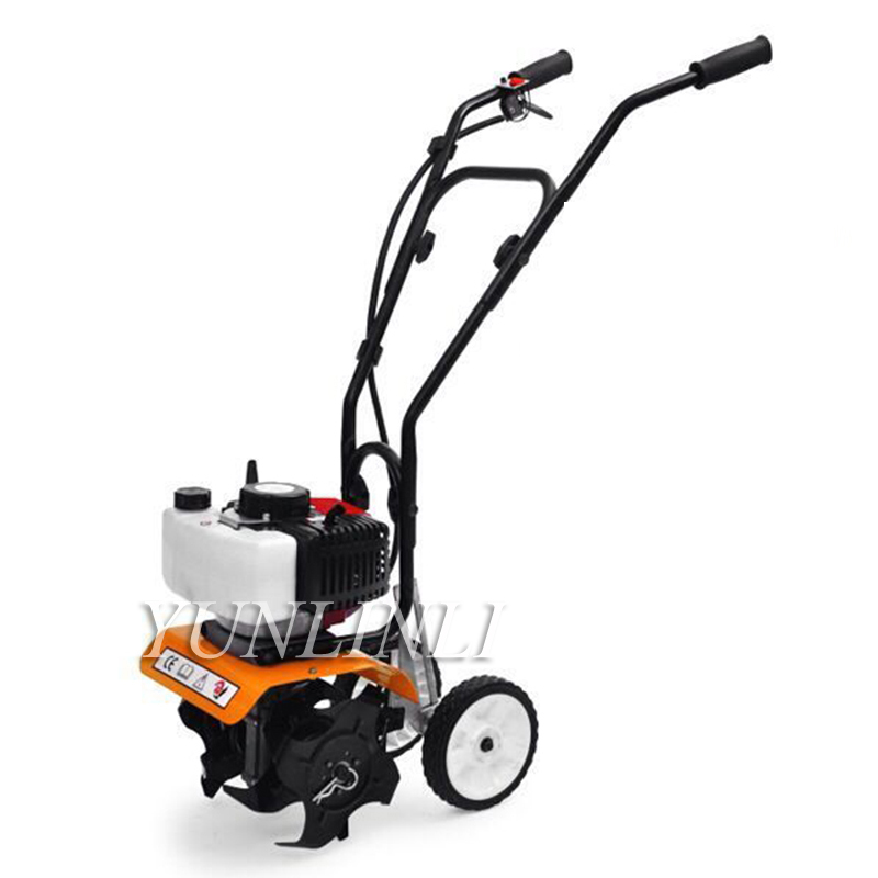 52cc 1900W Walk-behind Tractor Cultivator Plants Motocultor Soil Loosening Equipment Garden Tiller Rotary Hoe Machine