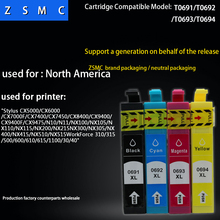 10PK compatible epson 69 ink cartridge ( T0691 T0692 T0693 T0694) for NX100/NX115/NX200 printer