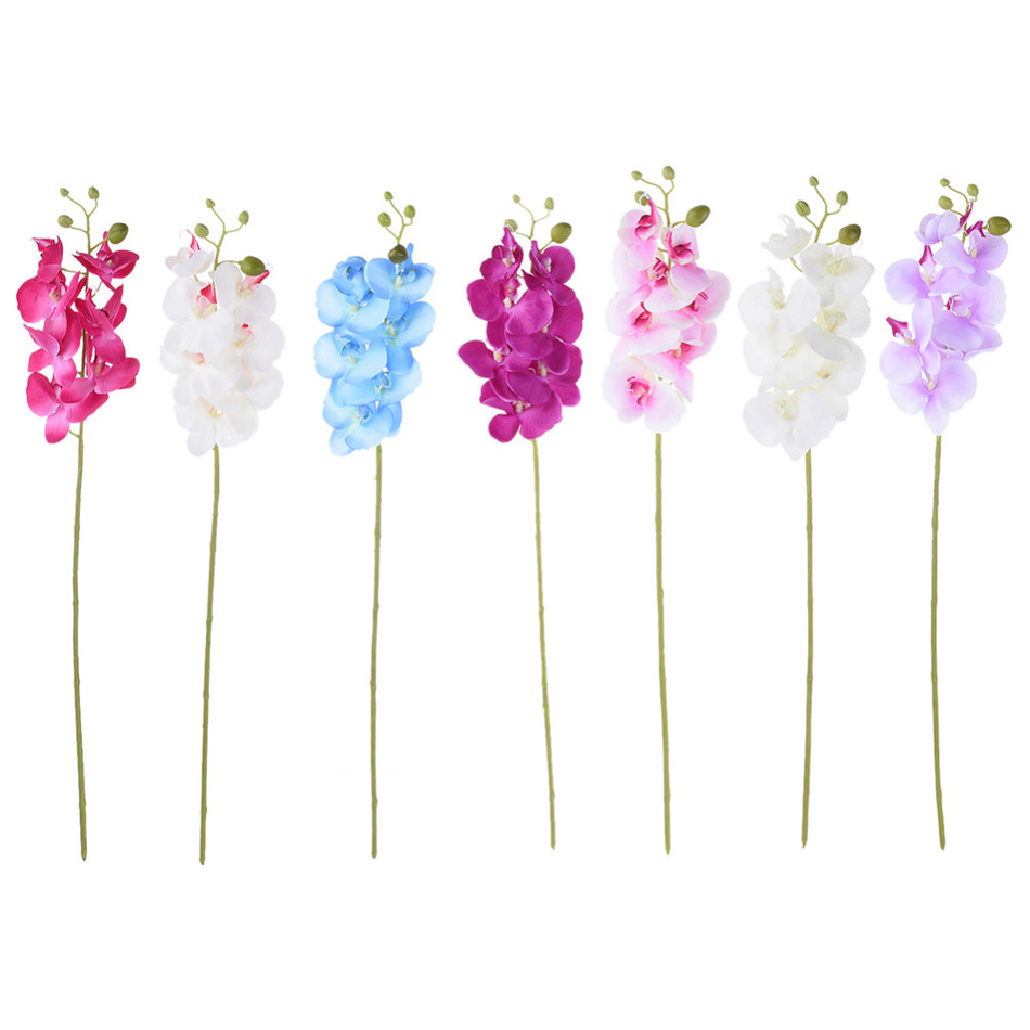pcs artificial butterfly orchid silk flower home wedding decor phalaenopsis bouquet for party wedding decoration: day orchid decor