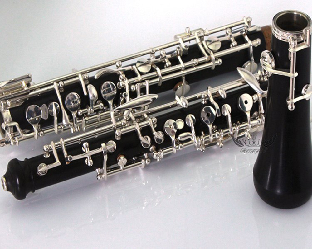 Student Type Silver Plated Semi Automatic Ebony Oboe 100% Original