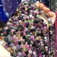 Petites perles en pierre naturelle Tourmaline soleil pierre grenat Amazonite 3 4 5mm Section perles en vrac pour la fabrication de bijoux bracelet à bricoler soi-même