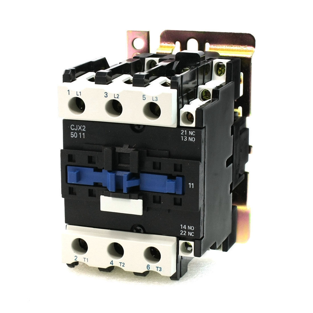 Rated Current 50A 3Poles+1NC+1NO 220V Coil Ith 80A AC Contactor Motor Starter Relay DIN Rail Mount