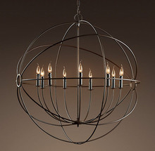 Rustic Iron Orb Chandelier A Foucault S Global Style Suspension Handing Lamp 4 Sizes New For