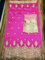 African Lace George High Quality 2016 New Silk George Lace For Party Dress Pink Indian Georges
