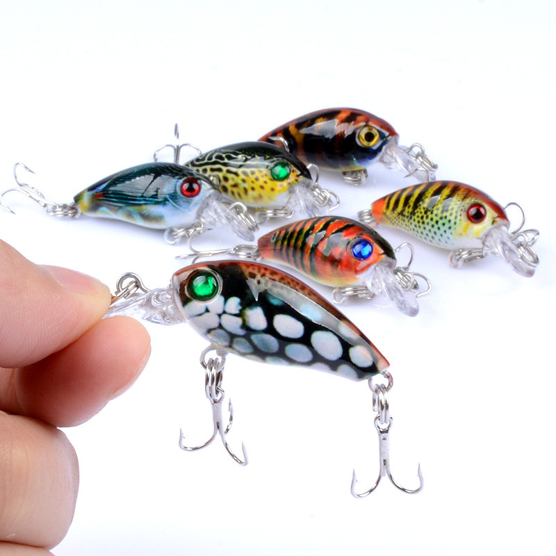 1Pcs 4.5cm 4g Crank Fishing Lure Hard Swimbait Pesca 6 Colors Wobbler Isca Artificial Crankbaits Fishing wobblers Pesca Tackle
