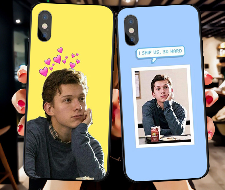 Marvel Spider Man Tom Holland Slim silicone Soft phone