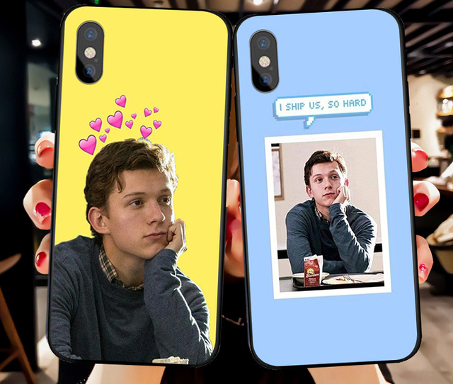 competitive price 317fd 08d77 US $1.86 31% OFF Marvel Spider Man Tom Holland Slim silicone Soft phone  case For iPhone X 8 8plus 7 7plus 6 6s plus XR XS MAX-in Half-wrapped Case  ...