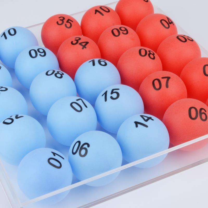 51 pcs digital number Color lottery Tennis game ball electric lucky number picking machine lottery bingo games 2 x aa