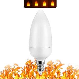 Image 2 - מלא דגם 3W 5W 7W 9W E27 E26 E14 E12 להבת הנורה 85 265V LED אפקט להבה אש אור נורות מהבהב אמולציה דקור LED מנורה
