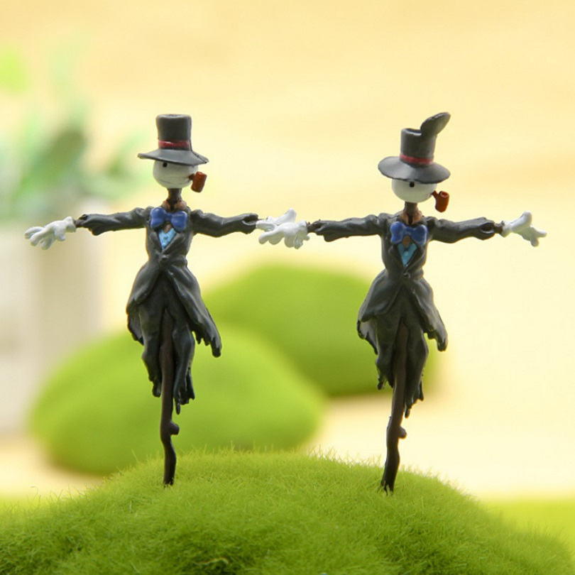 7CM Howl's Moving Castle Ghibli Comic Character PVC Figurine Toy DIY Model Hayao Miyazaki Anime Action Figure Garden Ornament studio ghibli classic the borrower arrietty figure scene figurine new in box free shipping