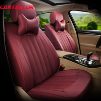 CARTAILOR Car Seat Cover for Mercedes Benz CLA Seat Covers for Cars Leather & Leatherette Seats Supports Black Auto Accessories