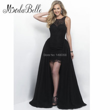 Lange Avondjurken Puffy Abnehmbare Zug Bodenlangen Zarte Perlen Sexy Long Black Abendkleid 2016 Hellblau Kleid Prom