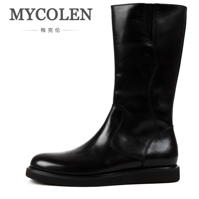 MYCOLEN Luxury Brand New Genuine Leather Boots Men Military Boot  Winter England Martin Shoes Men Botas Tacticas Militares the new winter men leather boots for men and martin england zipper tooling boots british retro men shoes breathable casual shoes