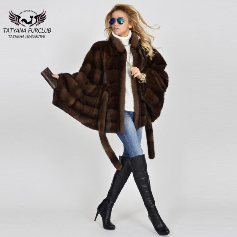 Imported Type Luxe Vestes Russie Manteaux Outwear Mode De 2018 Fourrure Vison Chaude Vente Court Chauve Manteau Réel Femmes D'hiver Tissu Tatyana souris Coffee Zwz1a7qx7