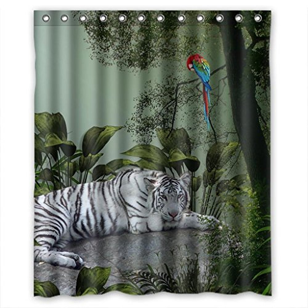 Christmas Decorations For Home White Tiger Colorful Parrot