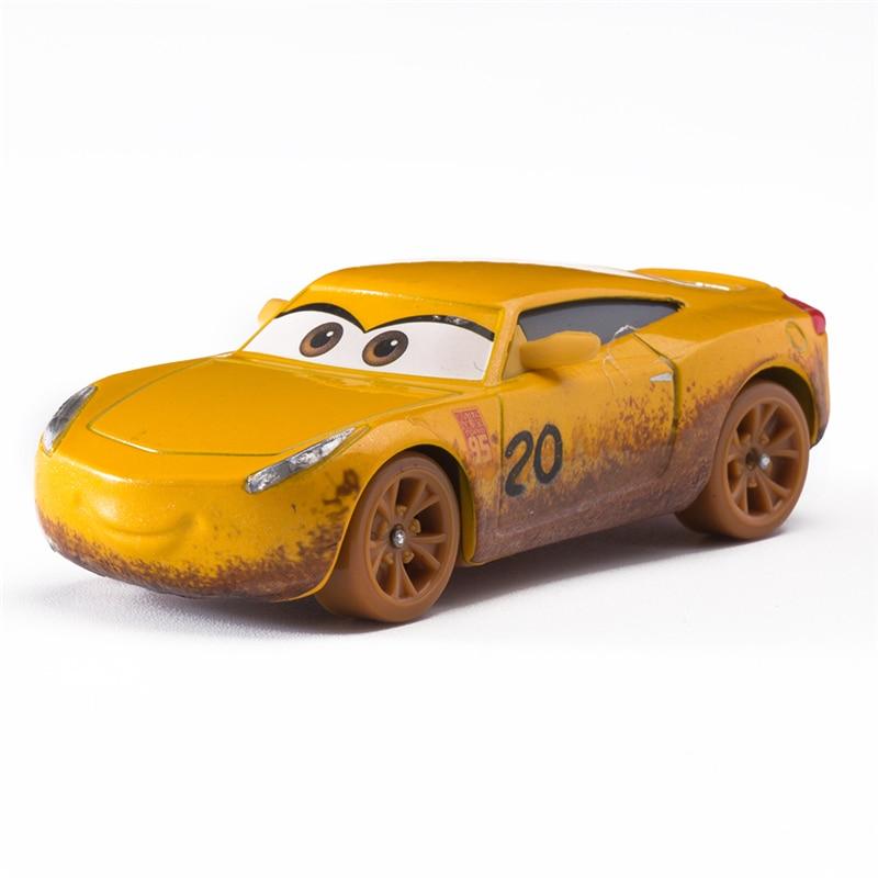 Disney Pixar Cars 2 3 Thunder Valley Cruz Ramirez Lightning Mcqueen Jackson Storm 1:55 Diecast Vehicle Metal Alloy Model