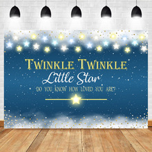 Neoback Twinkle Little Star Backdrop Shining Sky Baby Shower Birthday Party Photography Background
