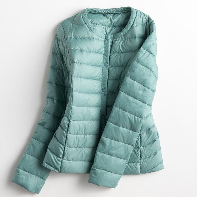 Осень-зима Для женщин Ультра Легкая зимняя куртка-пуховик белая утка Подпушка легкий Мужские парки женский теплый тонкий Короткое пальто плюс Размеры sf428