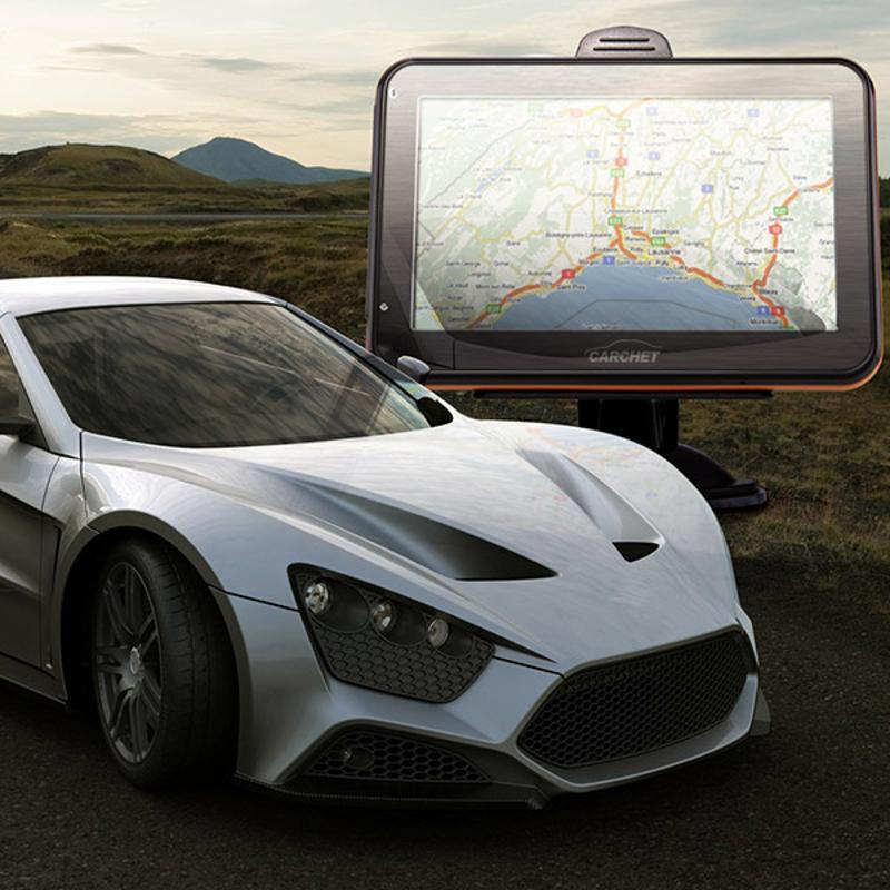 Car 4.3 TFT Touch Screen GPS Navigation FM RAM 128MB 4GB + Europe Map
