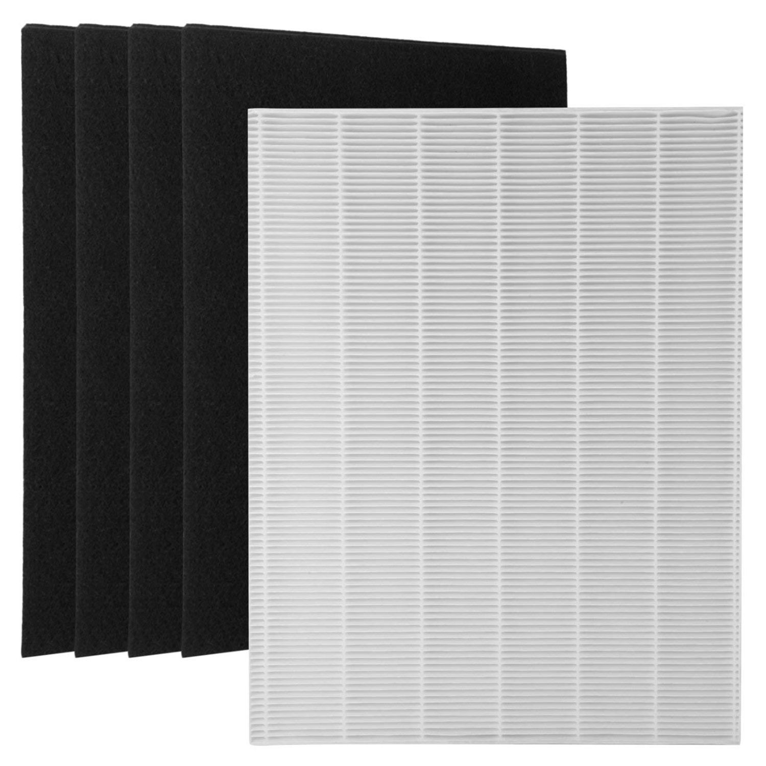 1 True HEPA Filter + 4 Carbon Replacement Filters A 115115 Size 21 for Winix PlasmaWave Air purifier 5300 6300 5300-2 6300-2 P цена