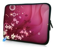 Pink Flower 10 Laptop Bag Case Cover For 10.1 Asus Transformer Pad TF300 TF300T TF700