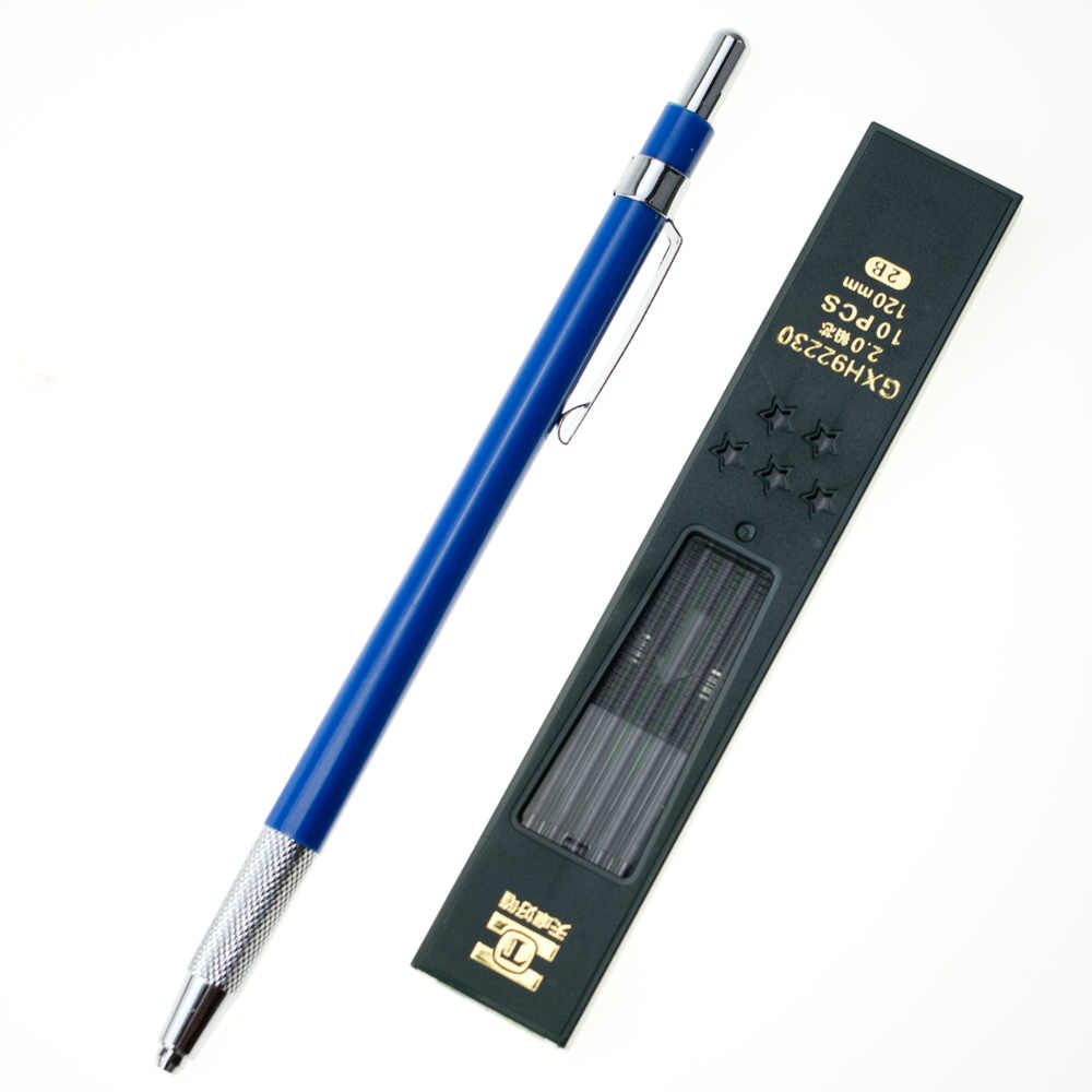 2 0mm high quality mechanical draft click pencil drawing lead holder for artist school office supplies