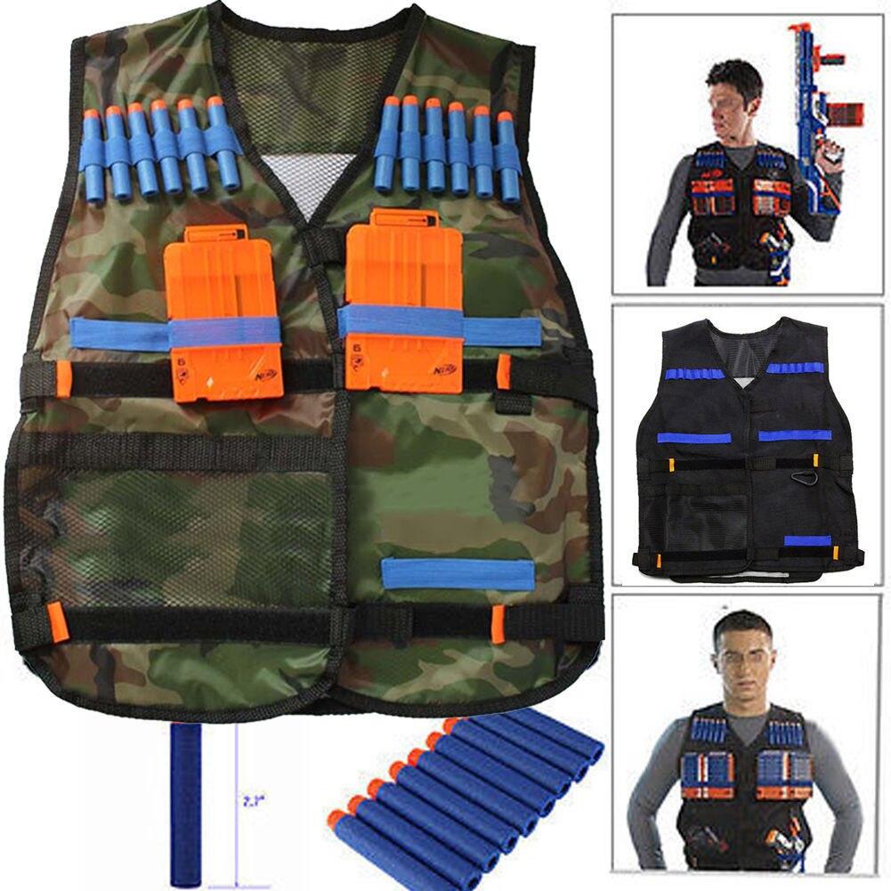 Adjustable Camouflage Water Nerf Tactical Vest Jacket Kids Toys Bullets Holder