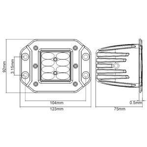 Image 3 - 5 zoll 6D Objektiv Strobe Led Arbeit Licht Für Flush Mount Jeep Auto Lkw Suv 4x4 Off Road wasserdicht Flut Strahl Arbeit Fahren Lichter