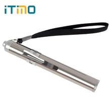 Stainless Steel LED Flashlight Flash Light Torch Lantern Min