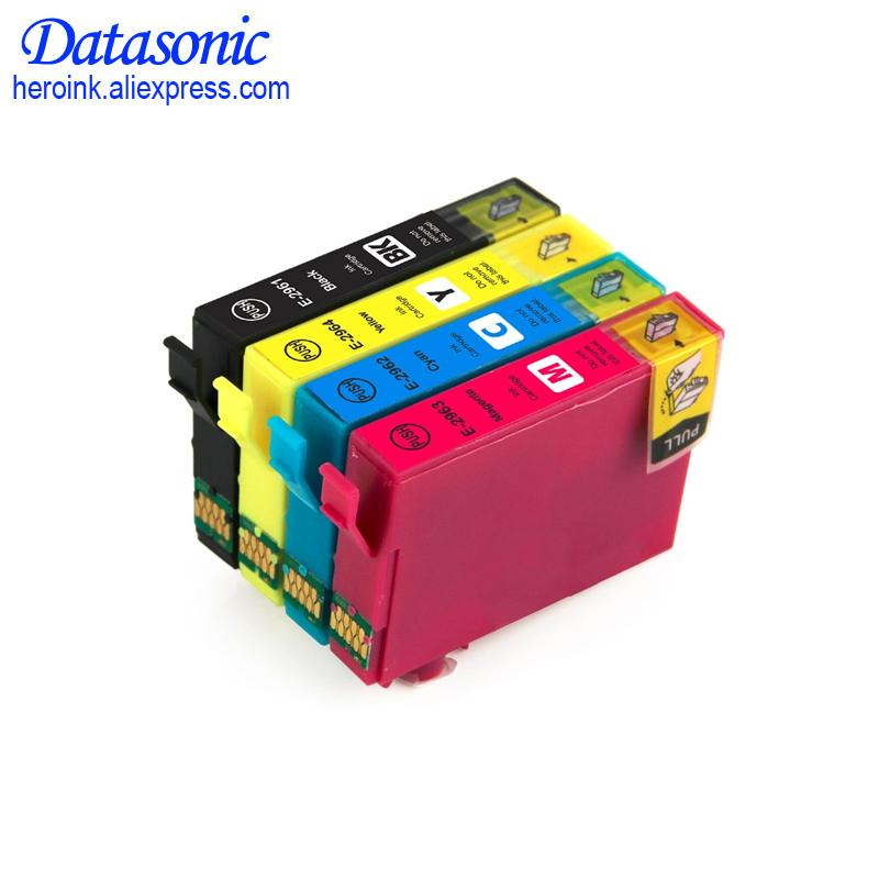 4pcs Compatible ink cartridge for 296 T2961 T2962 T2963 T2964 for EPSON Expression XP231 XP241 XP431 XP-441 printer t2971 t2962 t2964 refillable ink cartridges for epson xp231 xp431 xp 231 xp 431 xp 241 inkjet printer cartridge with chips