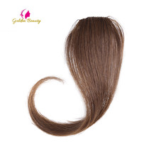 Synthetic-Hair-Extension Bangs Clip-In Long Women 4colors Golden for 10-12inch Beauty