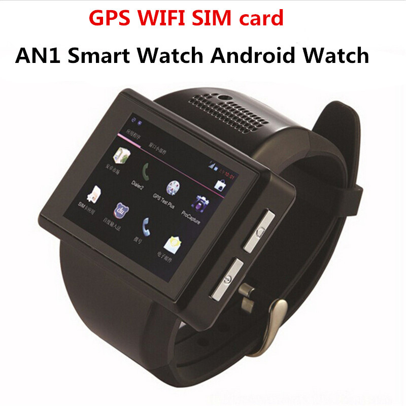 e074e89a8 2016 Smart Watch AN1 Smart Watch WIFI Android Mobile Watch Phone Touch  Screen Camera Bluetooth WIFI GPS Single SIM Phone PK Gear-in Smart Watches  from ...