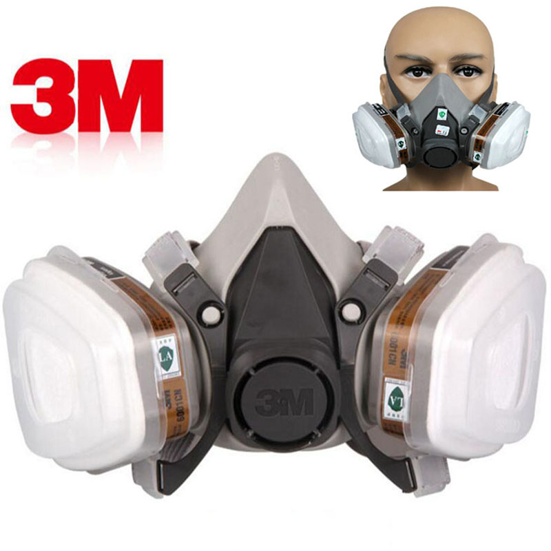 10 in 1 set 3M 6200 Gas Mask Double Carbon Filter Protection Spray Respirator Safety Dust Mask Chemical Goggles(China)
