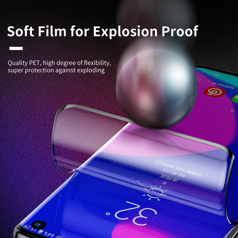 Baseus For Samsung Galaxy S10 Screen Protector 3D Curved Full Cover Protective Glass For Samsung S10 plus Film Tempered Glass in Phone Screen Protectors from Cellphones Telecommunications