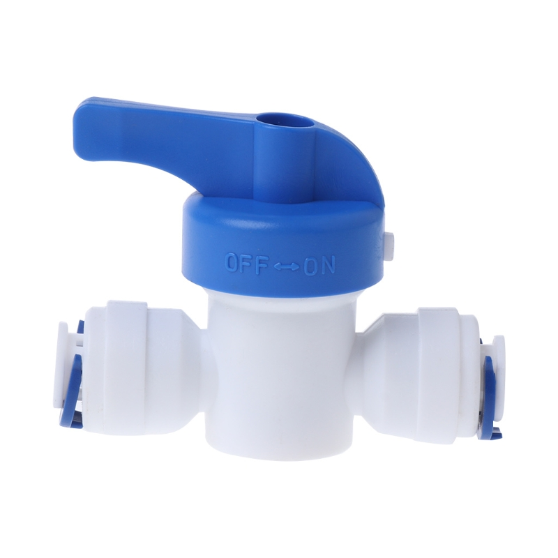 1/4'' Inline New Ball Valve Quick Connect Shut off For RO Water Reverse Osmosis high quality 2pcs 4 way 1 4 port auto shut off valve for ro reverse osmosis water filter system