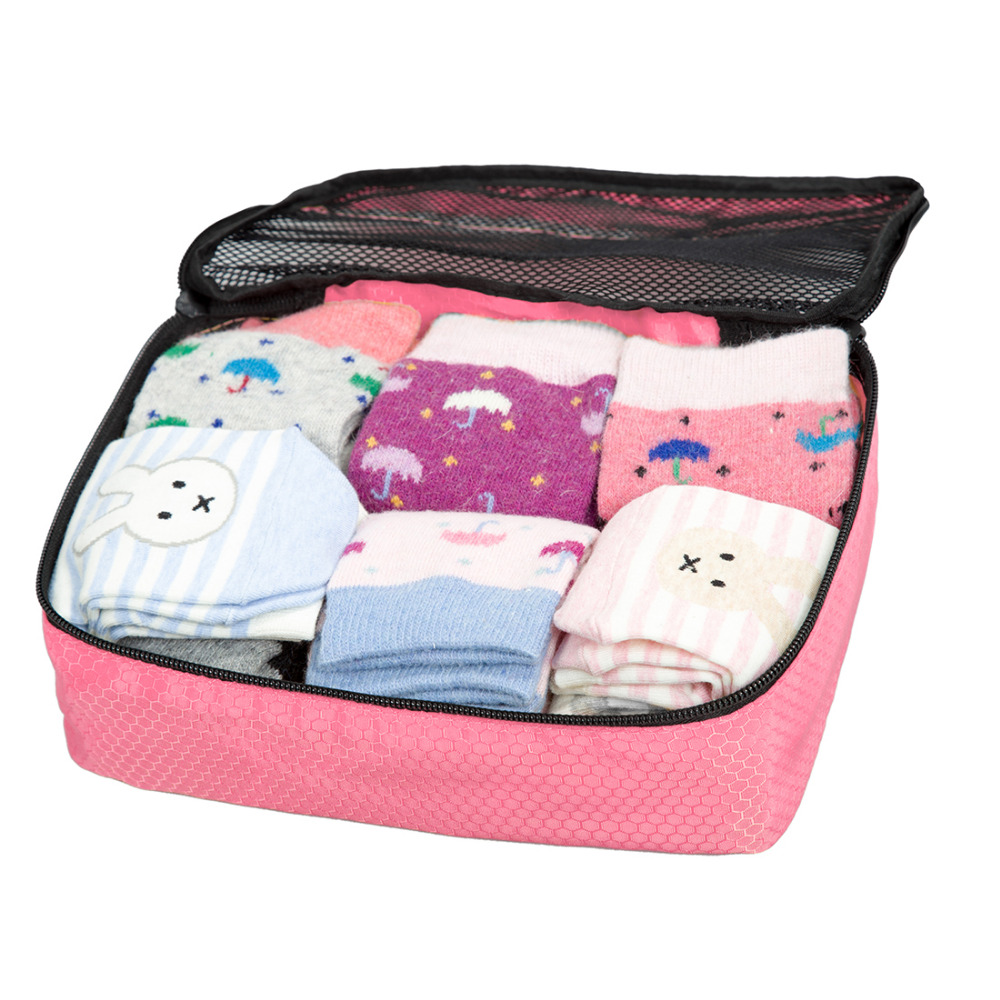 WORTHFIND Travel Bags Waterproof Underware Organizers Travel Bags For Sock Polyester Travel Bag Women Cosmetic Bag Organizers