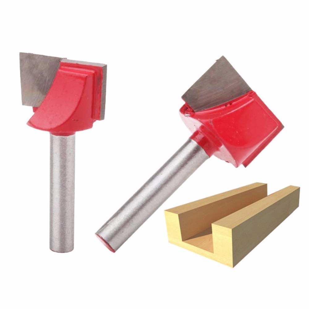 Image 5 - 1Pc 10/13/16/18/20/22/25/30/32mm Surface Planing Wood Milling Router Bits Bottom Cleaning Wood Cutting Router Bit-in Milling Cutter from Tools