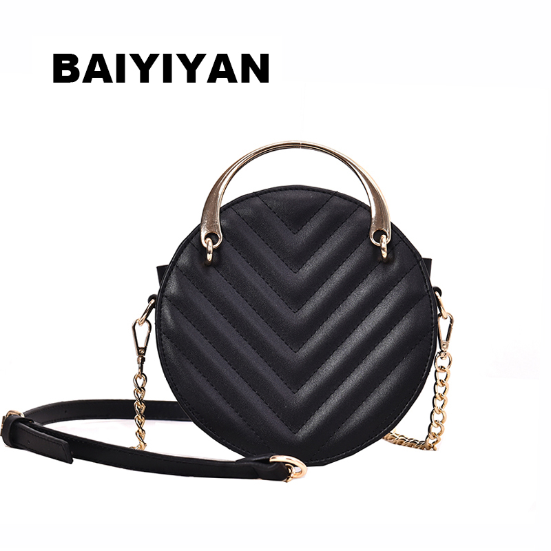 New Fashion Delicate Mini PU Leather Crossbody Bag Womens Tote Bag Chain Shoulder Bag Ladies Handbag Small Round PackageNew Fashion Delicate Mini PU Leather Crossbody Bag Womens Tote Bag Chain Shoulder Bag Ladies Handbag Small Round Package