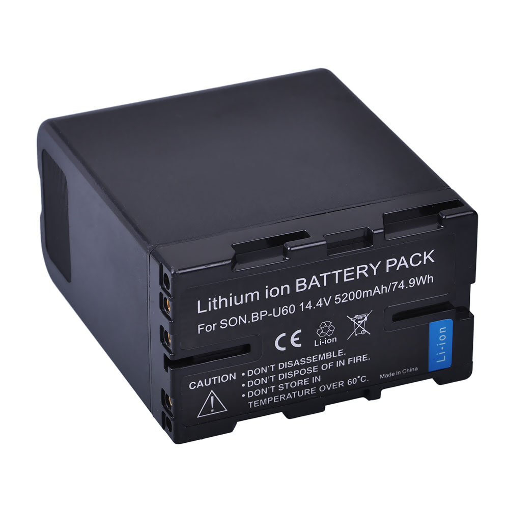 1 pc 5200 mah BP-U60 BP U60 BPU60 Rechargeable Li-ion Batterie Pour Sony XDCAM EX PMW100 PMW150 PMW160 PMW200