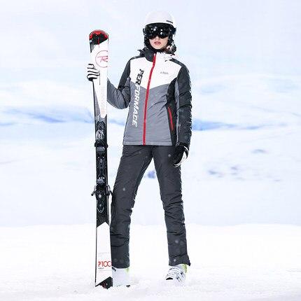 New S Double Board Single Board Long Red Ski Suit free shipping ki Suit Women Suit