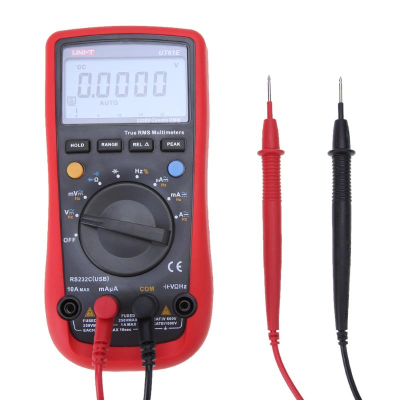 UT61E High Reliability Digital Multimeter PC Connect AC DC Voltage Meter Data Hold Relative Mode 22000 Counts Data Hold