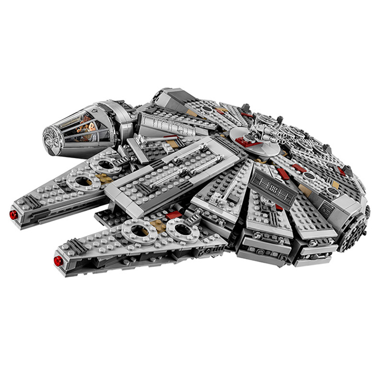Legoing Star plans Series Star millennium falcon 75105 1355 Building Blcok set Brick compatible 10467 Toys for children Gift legoing chaos warriors caves 70596 ninja series 1307 building blcok set brick compatible 10530 toys for children gift