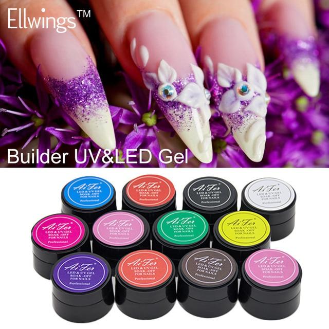 ellwings 3d geschnitzte muster gel nagel trnken weg langlebige uvgelpoliermittel semi permanent 12 farben - Gelnagel Muster